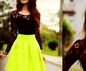 beauty, black, and dress image