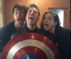 hayley atwell, captain america, and chris evans image