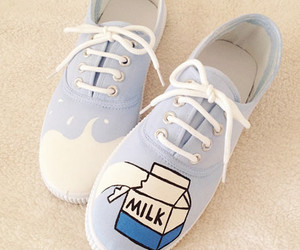 cute, shoes, and milk image