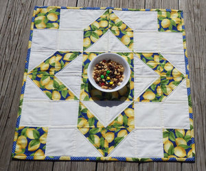 patchwork, homedecor, and quilted tabletopper image