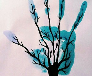 tree, art, and blue image