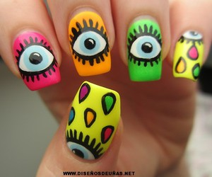 nails, eyes, and pink image