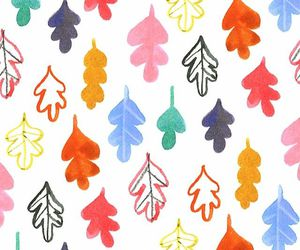 colors, leaf, and patterns image