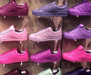 adidas, adidas superstar, and color image