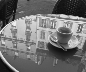 black and white, cafe, and noir et blanc image