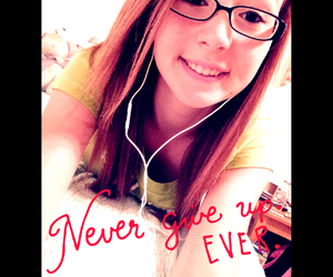 glasses, never give up, and music image