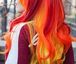 amarillo, hair, and colors image
