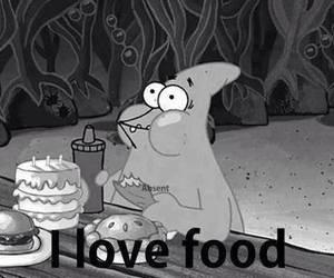 food, love, and patrick image