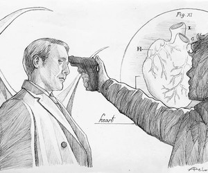 drawing, hannibal, and sketch image