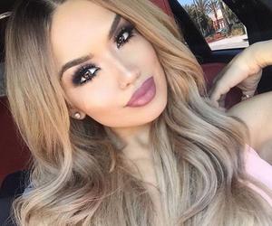 hair, beautiful, and makeup image