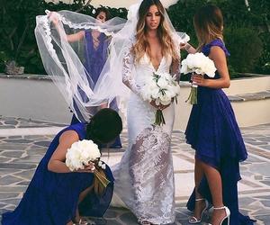 wedding, beautiful, and blue image