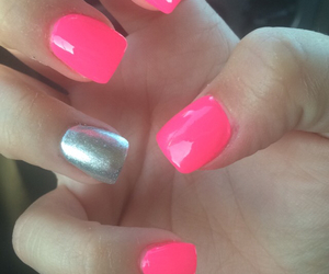 girly, nails, and pink image