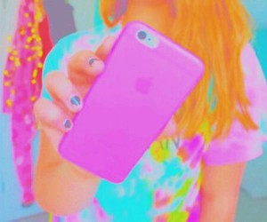 phone, pink, and tumblr image
