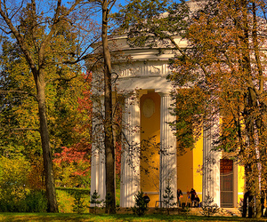 arch, architecture, and autumn image