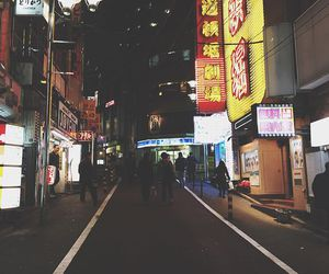 japan, lights, and neon image