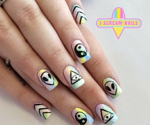 nail art, pastel colors, and ice cream image