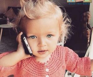 baby girl, blonde hair, and grey eyes image