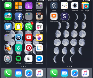 cool, phases of the moon, and iphone 6 image