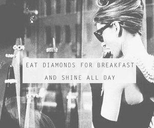 diamond, quotes, and shine image