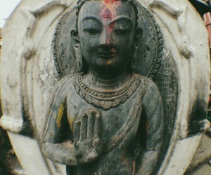 peace, love, and buda image