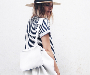 backpack, fashion, and hat image