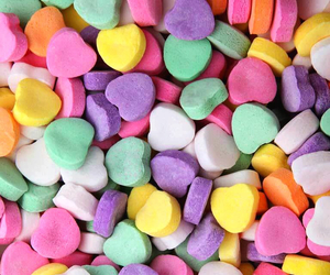 candy, sweet, and heart image