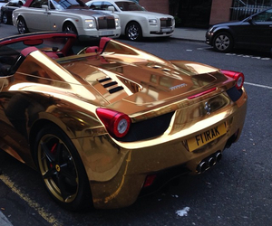 car, gold, and rich image