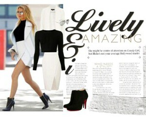 blake lively, fashion, and Polyvore image