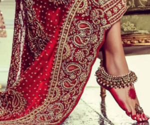 indian, red, and bride image
