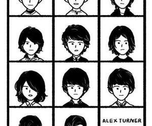 alex turner, arctic monkeys, and hair image