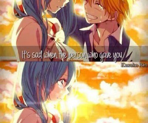 anime, sad, and quote image