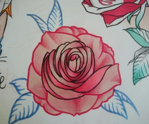red rose, tattoo design, and rose tattoo image