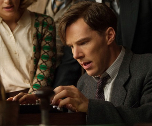 the imitation game, keira knightley, and benedict cumberbatch image