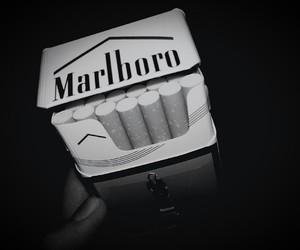 black, cigarette, and Darkness image