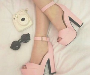 camera, girly, and heels image