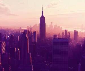 empire state building, new york city, and manhattan image