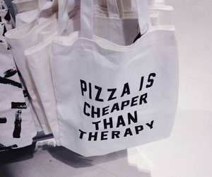pizza, bag, and grunge image