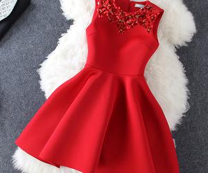 beads, dress, and fashion image