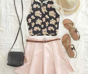 clothes, flower, and summer image