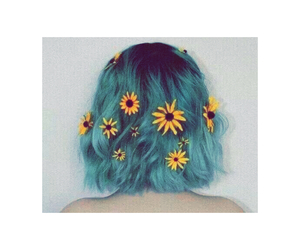 blue, colored, and flower image