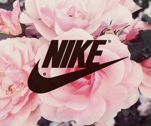 nike, flowers, and wallpaper image