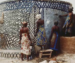 woman, africa, and art image