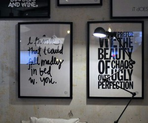 quote, house, and wall image
