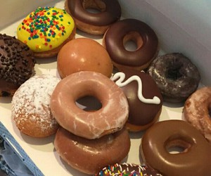 candy, donuts, and food image