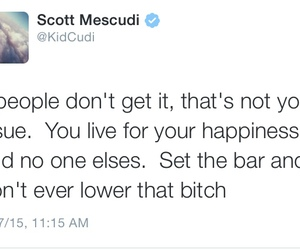 quote, kid cudi, and happiness image