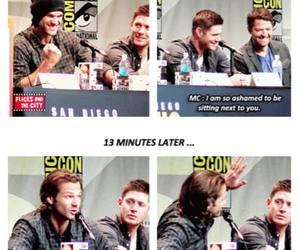 ashamed, comic con, and dean image