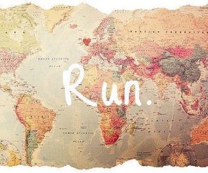 map, run, and travel image