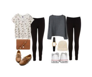 school, simple outfits, and cute image