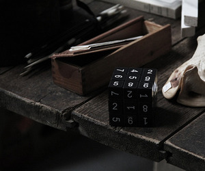 black and white, cube, and game image