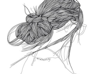 outline and hair image